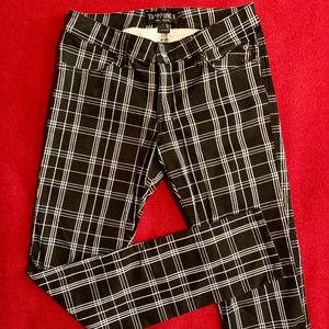 Tripp NYC punk rock plaid skinny jeans